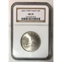 2003 First Flight Half Dollar NGC MS70 ***Rev Tye's Stache*** #301539