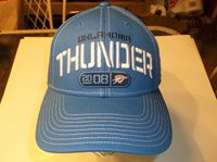Oklahoma City Thunder NBA Team Primary Color adjustable hat by Adidas