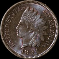1891 Indian Cent