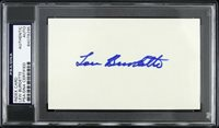 "1951-63 Lew Burdette Milwaukee Braves Signed 3""X 5"" Index Card (PSA/DNA Slabbed)"
