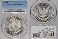 1885 MS66 DMPL PCGS $1