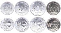 Pièce Indonésie Série de 4 pièces 100 à 1000 Rupiah 2016