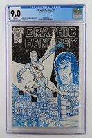 Graphic Fantasy #3 -NEAR MINT- CGC 9.0 VF/NM -AJAX 1983- 4 Signatures - SCARCE!