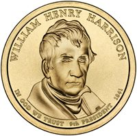Roll 25 Coins 2009 President William Harrison  Dollars-Bank Roll Uncirculated.