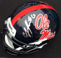 CJ JOHNSON SIGNED OLE MISS REBELS HELMET FINS UP HOTTY TOTTY AUTOGRAPHED J1