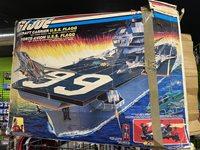 Hasbro GI Joe USS Flagg Aircraft Carrier Canadian Bi-Logo Box