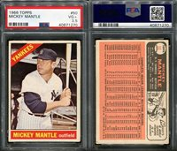 1966 TOPPS #50 MICKEY MANTLE PSA 3.5 (1270)