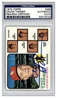 Chuck Tanner Autographed Signed 1973 Topps Card #356 Chicago White Sox - PSA/DNA AuthenticCUSTOM FRAME YOUR JERSEY