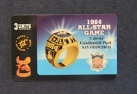 1984 All-Star Game San Francisco Giants Stadium Club ring leaders phone card