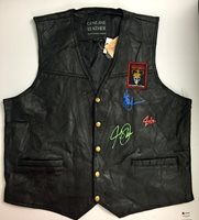 Rush Band Autographed Leather Vest
