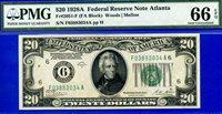Rare FR-2051-F 1928-A $20 FRN (( Atlanta )) PMG Gem-UNC 66PPQ # F03883034A.