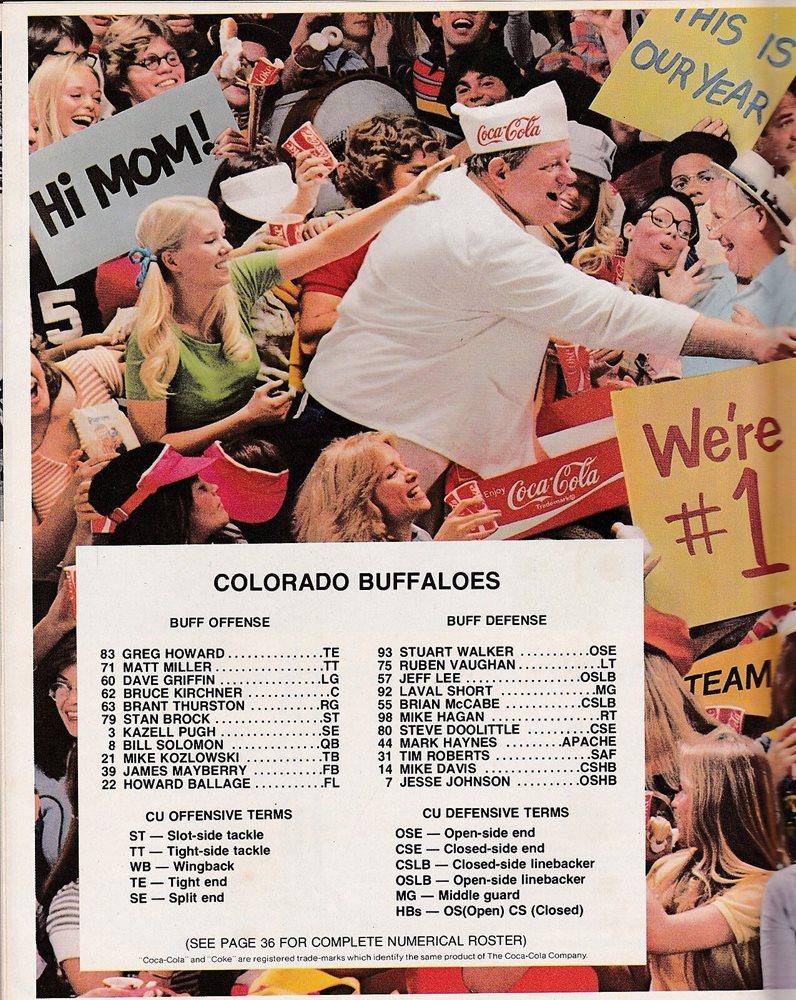 Colorado vs Northwestern 1978 college football program