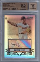 2008 Buster Posey Bowman Sterling Auto Refractor RC- BGS 9.5 Gem Mint- #99/199