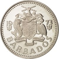 Barbados, 25 Cents, 1973, KM:13