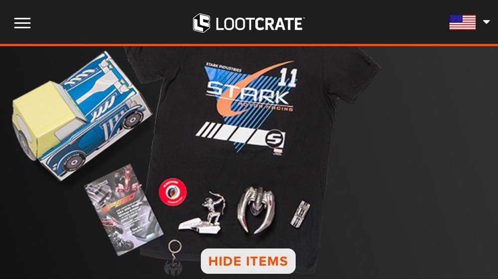 sealed complete september 2016 lootcrate loot crate spe