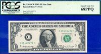 Top Pop FR-1903-C* 1969 $1 FRN (( STAR )) PCGS Superb-68PPQ # C06140272*.