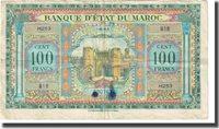 100 Francs Marokko Banknote, 1943-05-01, Km:27a
