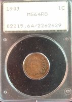1903 PCGS MS64 RB INDIAN CENT