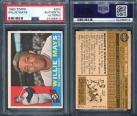 1960 TOPPS #200 WILLIE MAYS PSA 0 AA: AUTHENTIC ALTERED (6816)