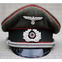 Artillery Officer's Visor Cap ORIGINAL SCHELLENBERG STIRNDRUCKFREI D.R.G.M.
