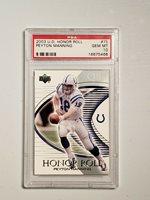 Peyton Manning PSA Gem Mint 10 2003 UD Honor Roll #75 HOF Colts