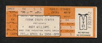 1984 Andy Williams Unused Full Concert Ticket Erwin Center Austin TX Moon River