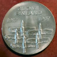Finland 10 marka 1967 Silver 50 Anniv. de La Independence @Without Circular@