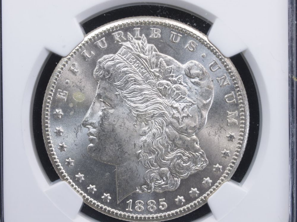 1885-CC $1 Morgan Silver Dollar NGC MS63 Vam 4