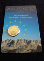 "Andorra 2 euro Bu coin 2014 ""European Council"" in coincard /blister NEW"