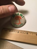Vintage University College Football Pin Button Miami University Bowl