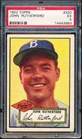 1952 Topps Baseball- #320 John Rutherford, Dodgers- PSA Ex 5- High #