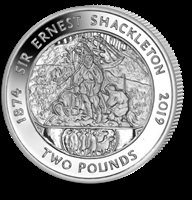 2019 Silver Shackleton 145th Anniversary of Birth Proof Coin only 2000 minted!