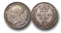 EM146 - Great Britain, Victoria (1837-1901), Silver Fourpence, 1871