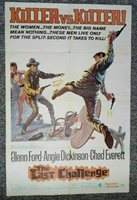 Last Challenge 1967 Thorpe Glenn Ford Angie Dickinson ORIGINAL One Sheet Poster