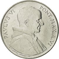 Coin, VATICAN CITY, Paul VI, 50 Lire, 1968, Roma, MS(63), Stainless Steel