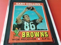 1971 GARY COLLINS # 75 TOPPS SGC 86 CLEVELAND BROWNS FOOTBALL !!