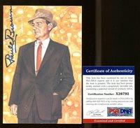Paul Brown Autographed Signed Memorabilia Goal Line Art Glac Autographed Signed Memorabilia Cleveland - PSA/DNA AuthenticCUSTOM FRAME YOUR JERSEY
