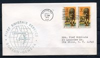 UNITED STATES FIRST SWISSAIR SERVICE BOSTON TO GENEVA COVER 4/1/75