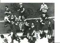 Rare Liverpool FC 1977 European Cup Photo signed by 5 of team. COA AFTAL