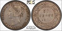 Newfoundland 1870 Fifty Cent. PCGS XF-45