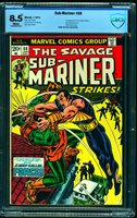 Sub-Mariner #68 CBCS VF+ 8.5 White Pages Marvel Comics Comic Book