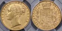 1872 Sydney Shield Reverse Sovereign - PCGS AU58