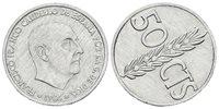 SPAIN 50 CTS 1966 Reverse rotated 80º. Al. 0.98g. AU