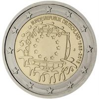 "2015 Germany €2 UNC Coin Issue ""EU Flag 30 Years"""