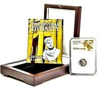 Roman Emperor Silver Denarius of Caracalla Coin NGC Certified AU & Beautiful Box