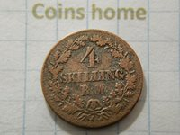Cоins Hоme Circulated 1856 DENMARK 4 skilling RM KM#758.2 Lot#mac11 Uncertified