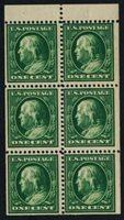 Scott 331a, F-VF NH, BP/6, 1908 1c Green, perf 12, DL wtmk
