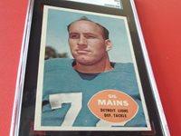 1960 GIL MAINS # 49 TOPPS SGC 84 DETROIT LIONS FOOTBALL !!