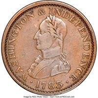 1783 Copper Washington, Lg Military NGC Details
