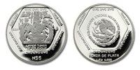 Mexico 1994 Gravestone (Lapida Tumba de la Palenque) 1 oz. Silver Proof